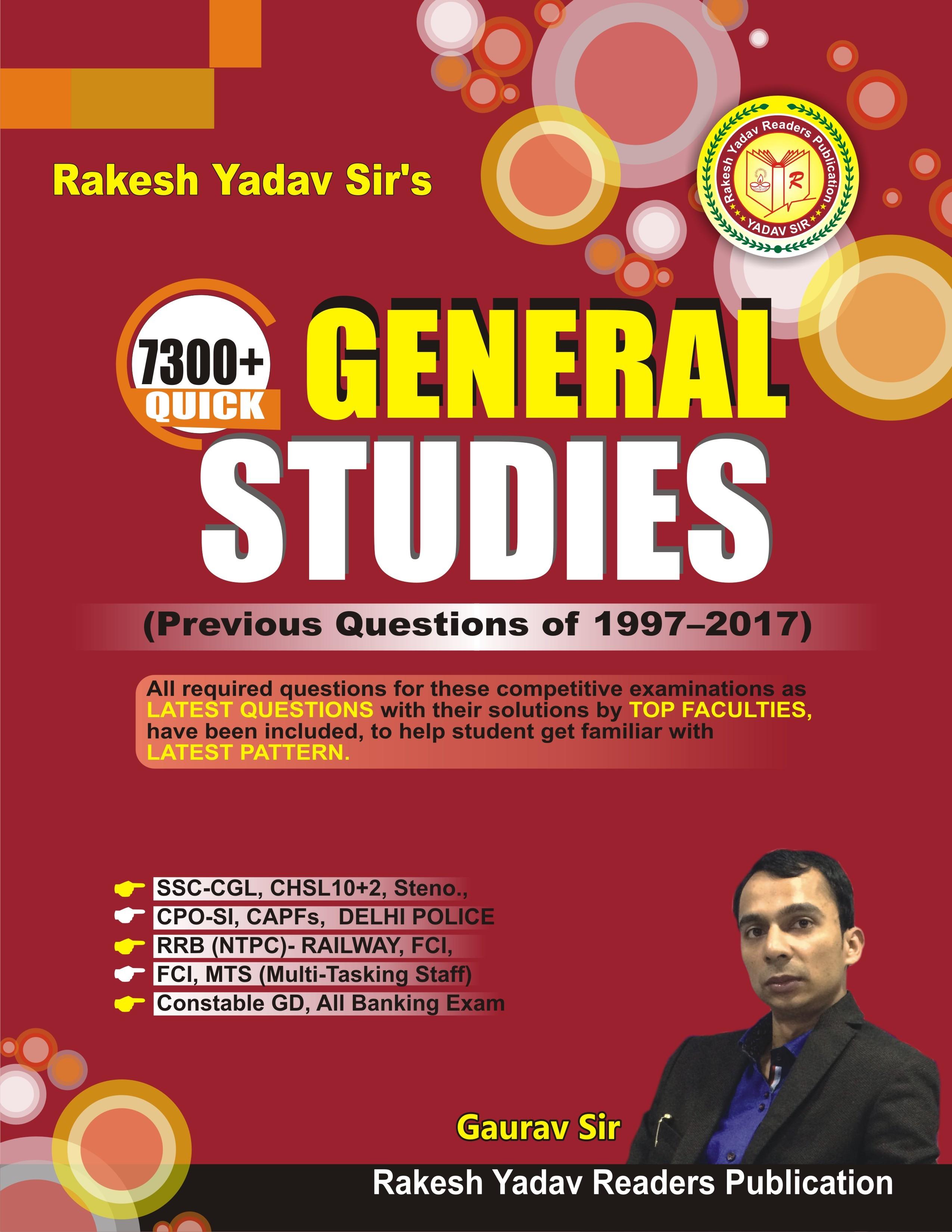 PDF] Rakesh Yadav Sir's 7300+ Quick General Studies By