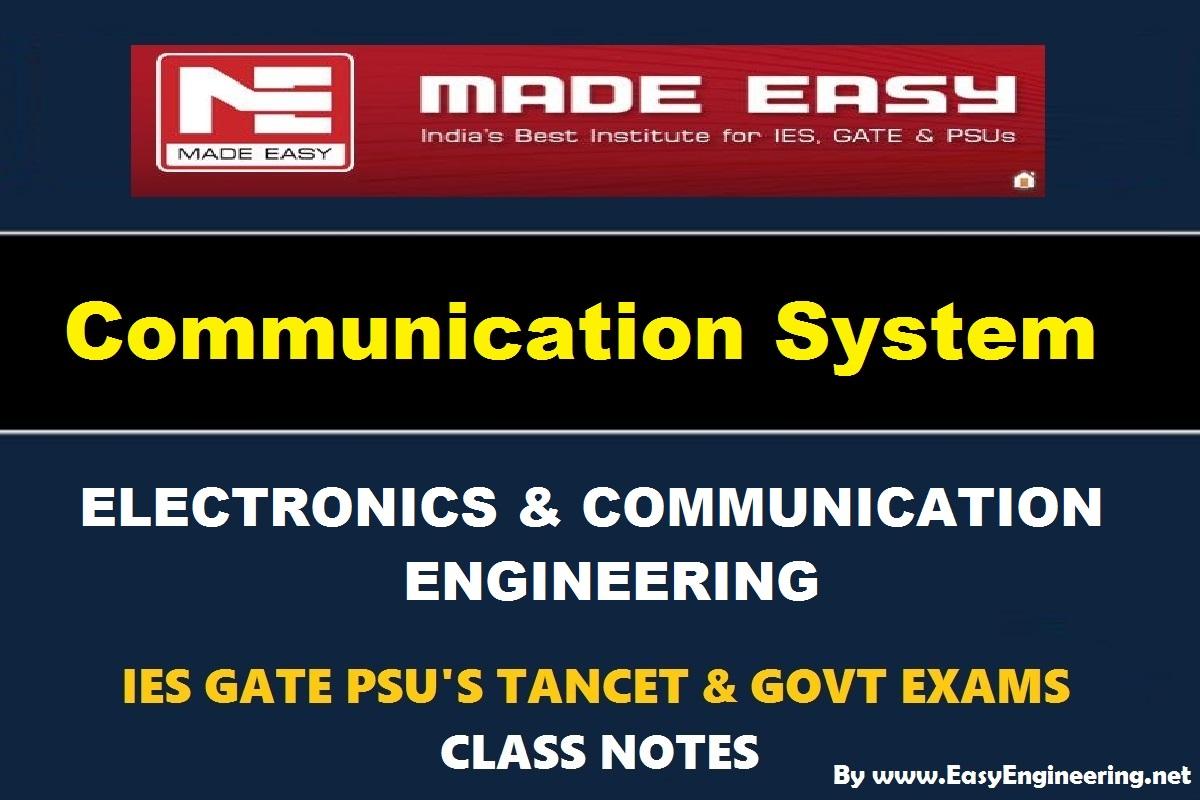 PDF] Communication System EasyEngineering Team Study