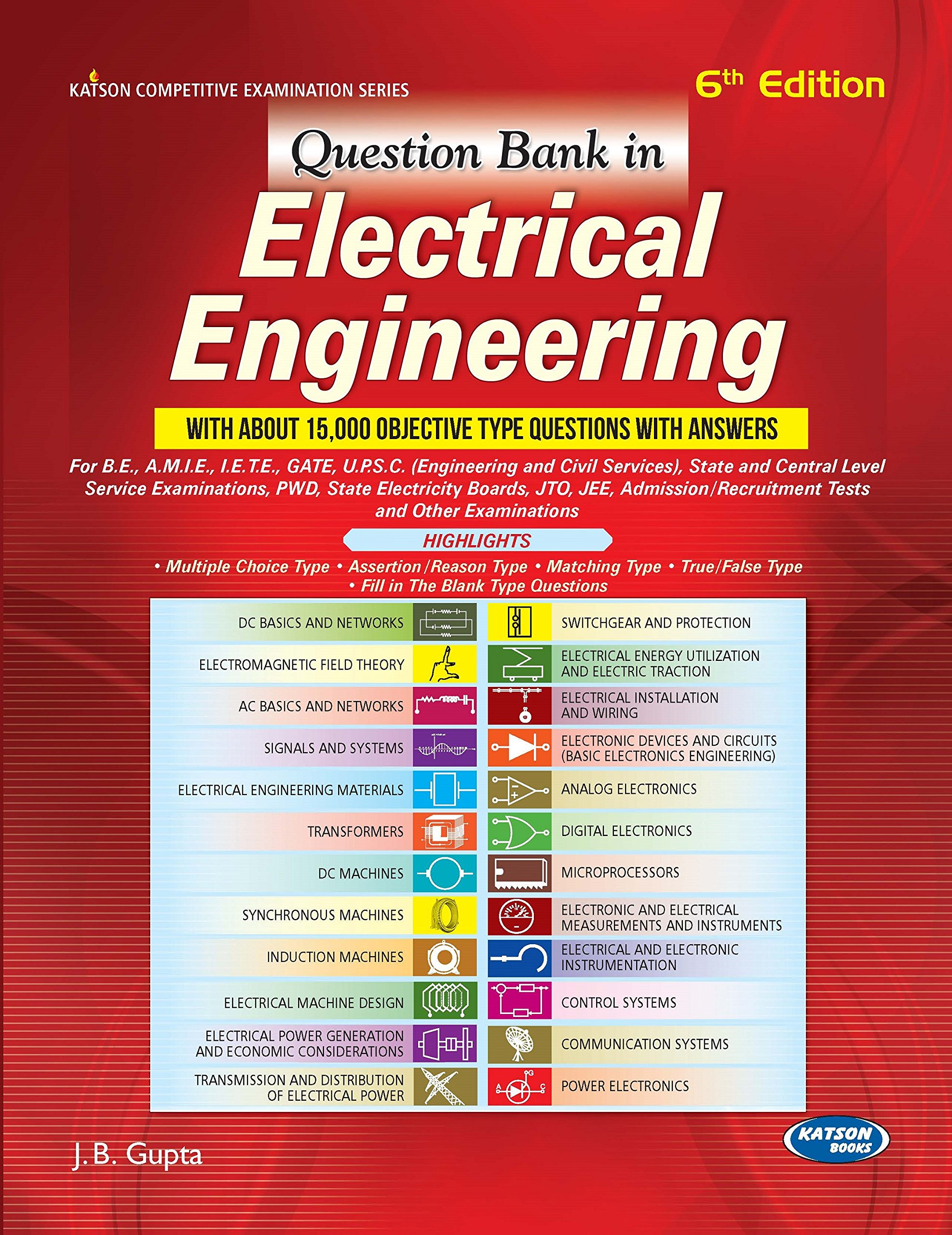 Pdf Question Bank In Electrical Engineering By J B Gupta Book Free Download Easyengineering