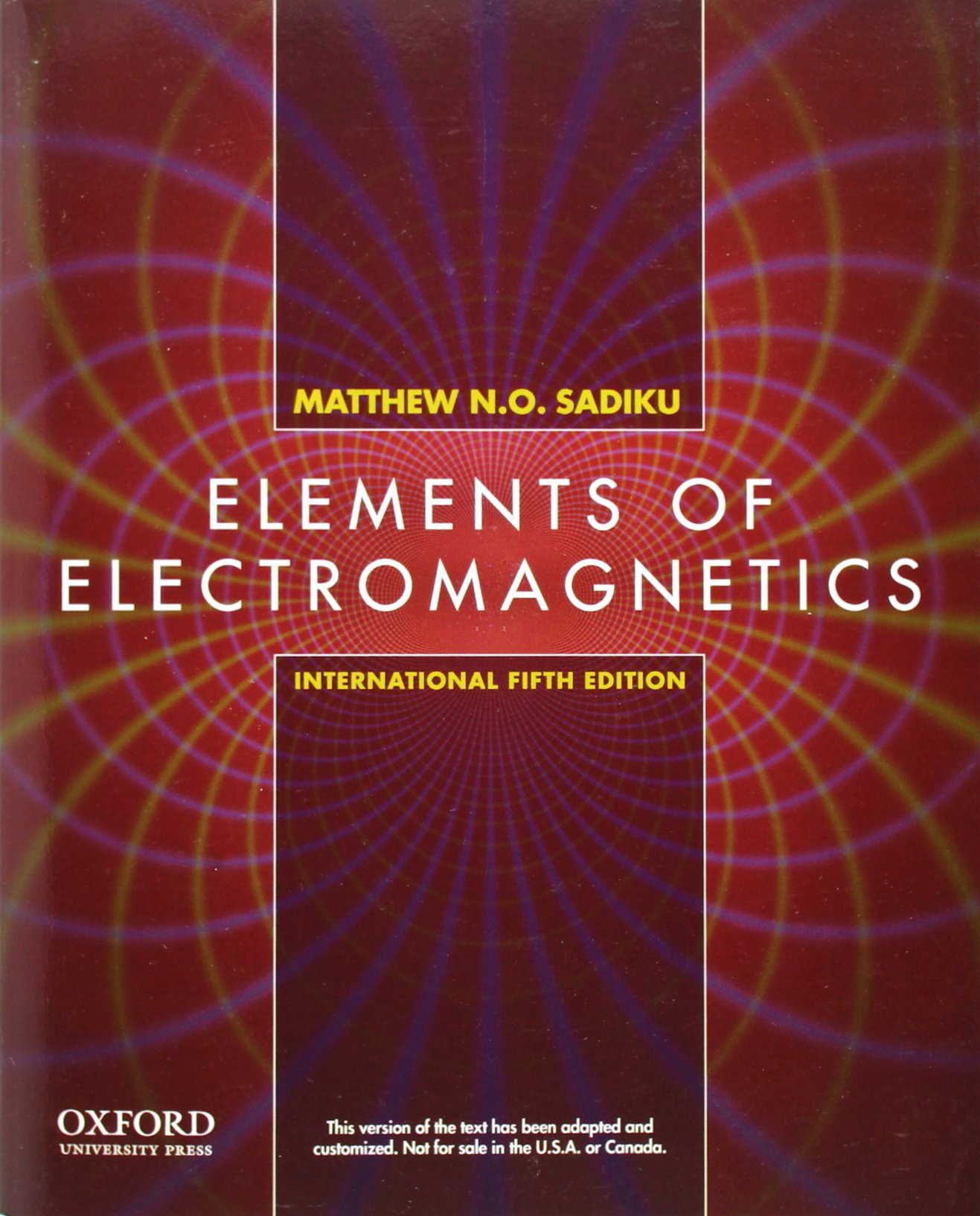 [PDF] Elements of Electromagnetics By Matthew N.O. Sadiku Book Free Download  – EasyEngineering
