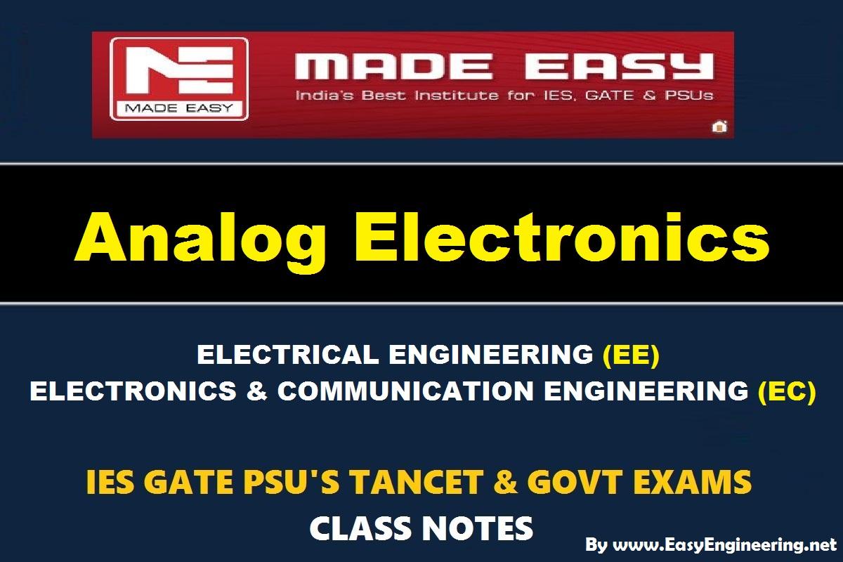 pdf handwritten analog electronics easyengineering team study rh easyengineering net Electronic Theory Test Basic Transistor Theory