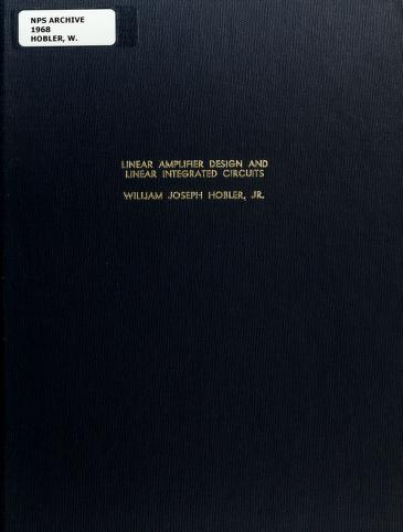 Pdf Linear Amplifier Design And Linear Integrated Circuits By Hobler William Joseph Book Free Download Easyengineering