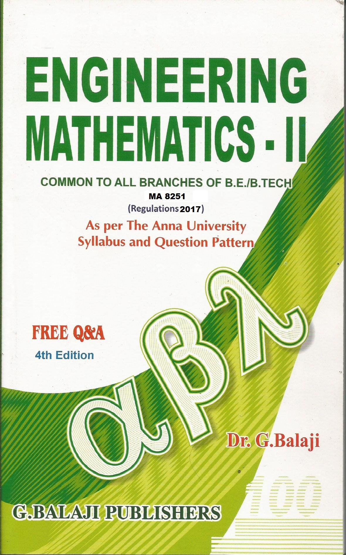 PDF] MA8251 Engineering Mathematics II Books, Lecture Notes