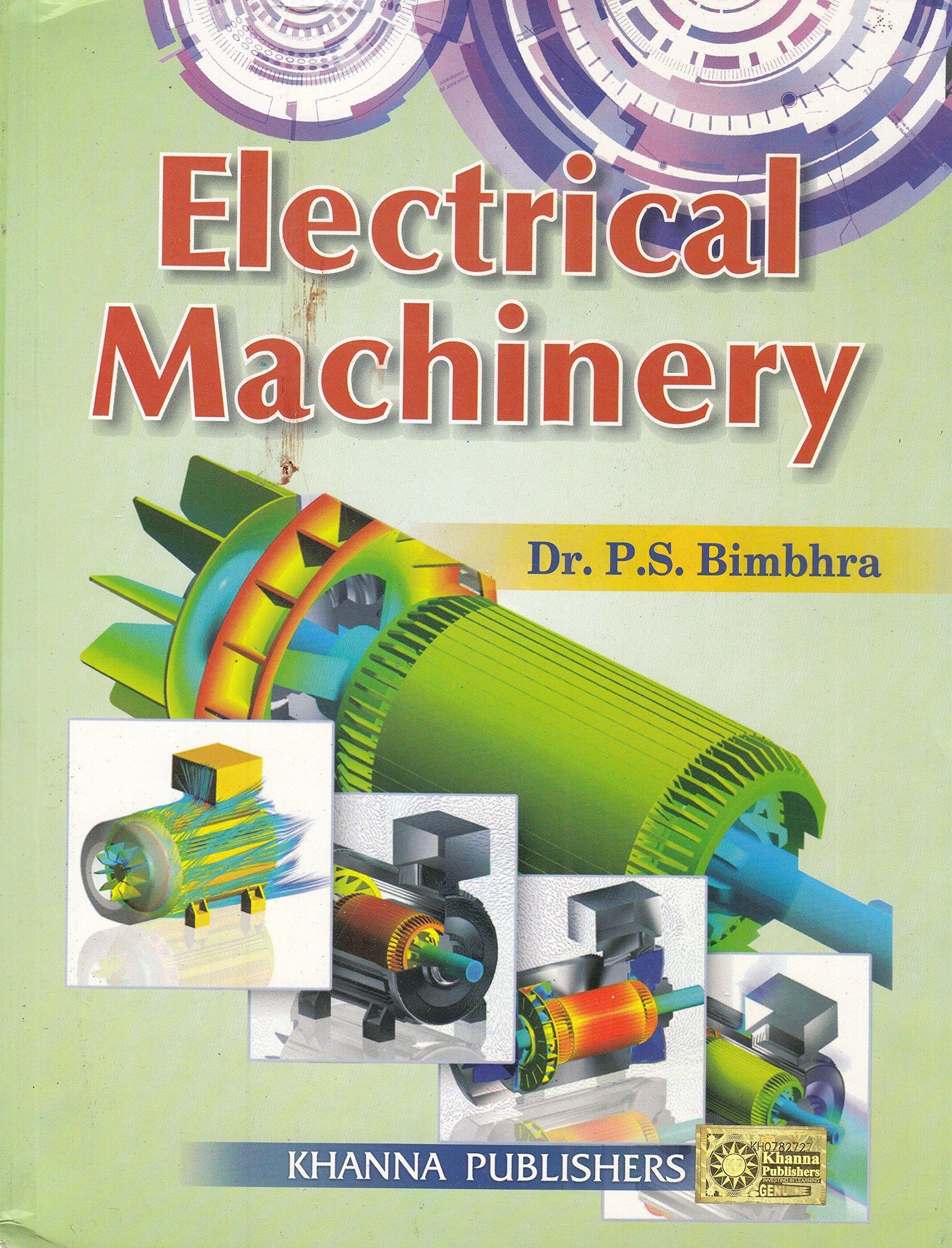 PDF] Electrical Machinery By P S  Bimbhra Book Free Download
